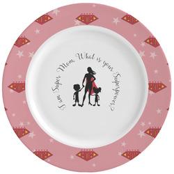 Super Mom Ceramic Dinner Plates (Set of 4)