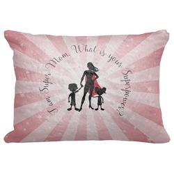"Super Mom Decorative Baby Pillowcase - 16""x12"""