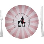 """Super Mom Glass Lunch / Dinner Plates 10"""" - Single or Set"""