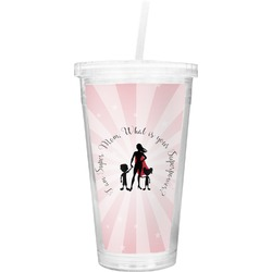 Super Mom Double Wall Tumbler with Straw