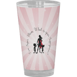 Super Mom Drinking / Pint Glass