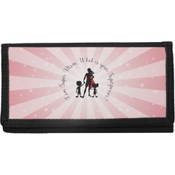 Super Mom Canvas Checkbook Cover
