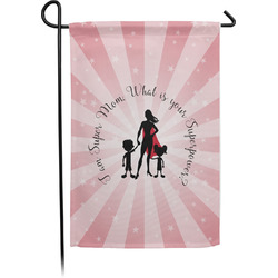 Super Mom Garden Flag With Pole