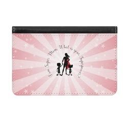 Super Mom Genuine Leather ID & Card Wallet - Slim Style