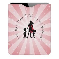 Super Mom Genuine Leather iPad Sleeve