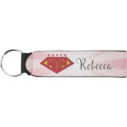Super Mom Neoprene Keychain Fob