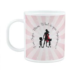 Super Mom Plastic Kids Mug