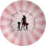 "Super Mom Melamine Plate - 8"""
