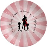 Super Mom Melamine Plate