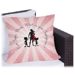 Super Mom Outdoor Pillow
