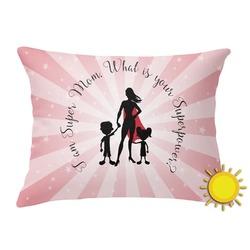Super Mom Outdoor Throw Pillow (Rectangular)
