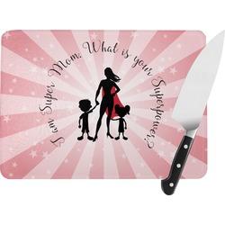 Super Mom Rectangular Glass Cutting Board