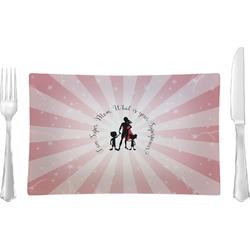 Super Mom Glass Rectangular Lunch / Dinner Plate - Single or Set