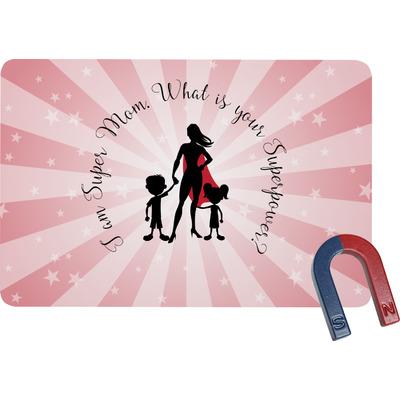 Super Mom Rectangular Fridge Magnet