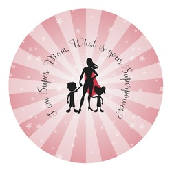 Super Mom Round Decal - Custom Size