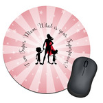 Super Mom Round Mouse Pad