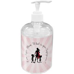 Super Mom Acrylic Soap & Lotion Bottle