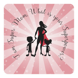 Super Mom Square Decal - Custom Size