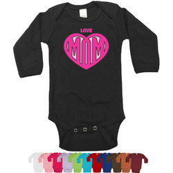 Love You Mom Long Sleeves Bodysuit - 12 Colors