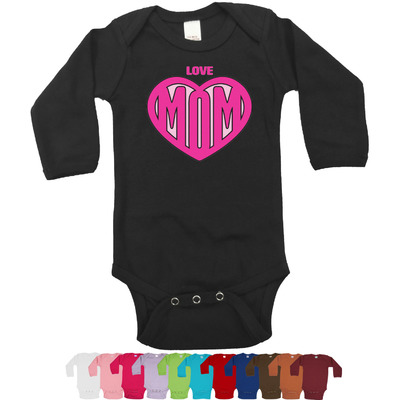 Love You Mom Long Sleeves Bodysuit - 12 Colors