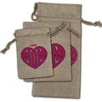 Love You Mom Burlap Gift Bags