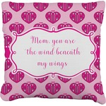 Love You Mom Faux-Linen Throw Pillow
