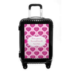 Love You Mom Carry On Hard Shell Suitcase
