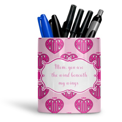 Love You Mom Ceramic Pen Holder