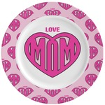 Love You Mom Ceramic Dinner Plates (Set of 4)