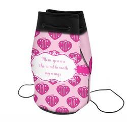 Love You Mom Neoprene Drawstring Backpack