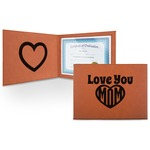 Love You Mom Leatherette Certificate Holder