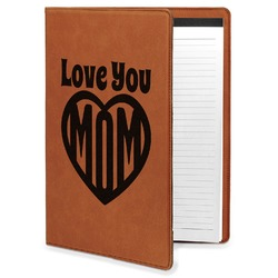 Love You Mom Leatherette Portfolio with Notepad