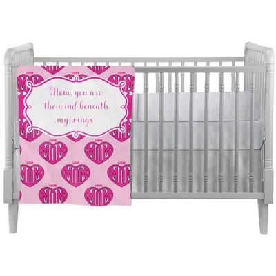 Love You Mom Crib Comforter / Quilt