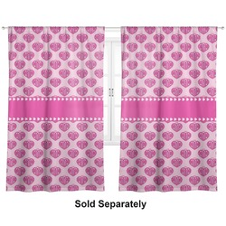 "Love You Mom Curtains - 56""x80"" Panels - Lined (2 Panels Per Set)"