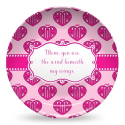 Love You Mom Microwave Safe Plastic Plate - Composite Polymer