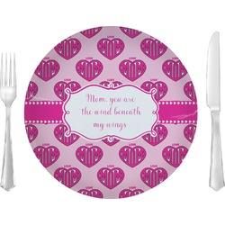 "Love You Mom 10"" Glass Lunch / Dinner Plates - Single or Set"
