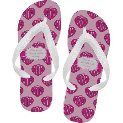 Love You Mom Flip Flops - XSmall