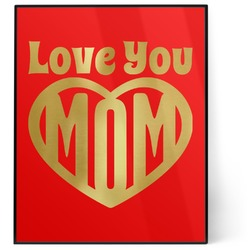 Love You Mom 8x10 Foil Wall Art - Red