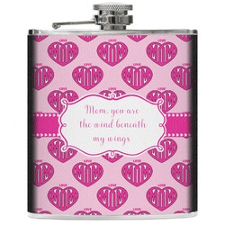 Love You Mom Genuine Leather Flask