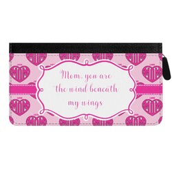 Love You Mom Genuine Leather Ladies Zippered Wallet