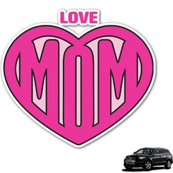 Love You Mom Graphic Car Decal
