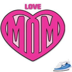 Love You Mom Graphic Iron On Transfer