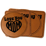 Love You Mom Faux Leather Iron On Patch