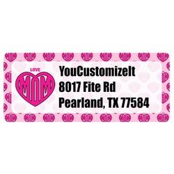 Love You Mom Return Address Label