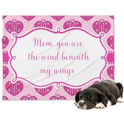 Love You Mom Minky Dog Blanket