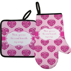 Love You Mom Oven Mitt & Pot Holder
