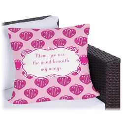 Love You Mom Outdoor Pillow