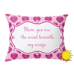 Love You Mom Outdoor Throw Pillow (Rectangular)