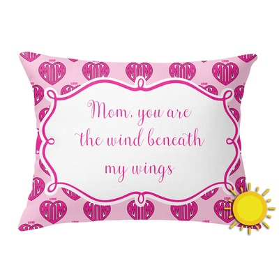 Love You Mom Outdoor Throw Pillow (Rectangular)