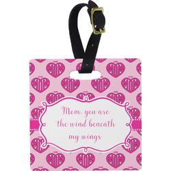 Love You Mom Plastic Luggage Tag - Square